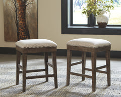 Wyndahl - Rustic Brown - Upholstered Stool