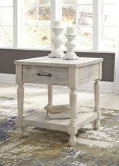Shawnalore - Whitewash - Rectangular End Table