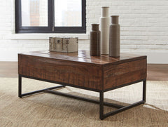 Hirvanton - Warm Brown - Lift Top Cocktail Table