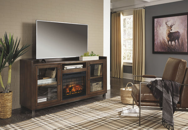 Starmore Black XL TV Stand w/Fireplace