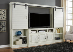 Blinton White Antique Entertainment Center