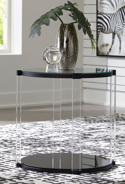 Delsiny - Black - Round End Table