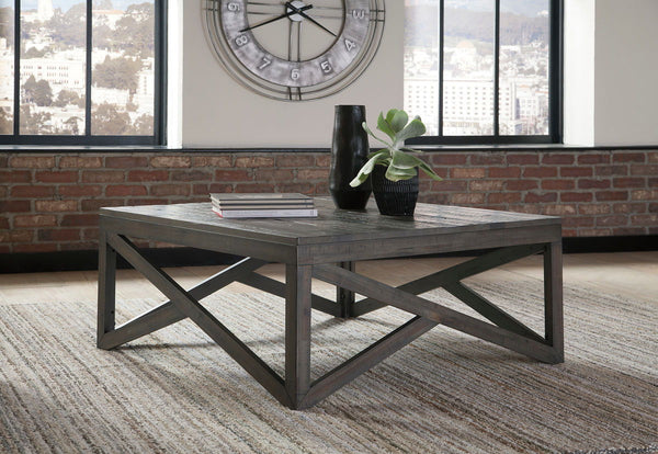 Haroflyn - Gray - Square Cocktail Table