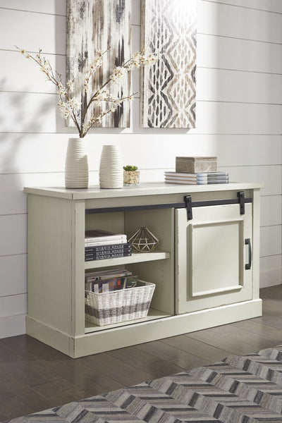 Jonileene - White/Gray - Home Office Cabinet