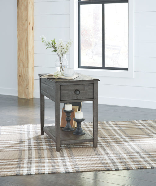 Borlofield - Dark Gray - Rectangular End Table
