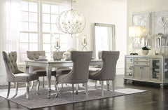 Coralayne Table & 6 Side Chairs & Server