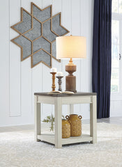 Bolanburg - Brown/White - Square End Table