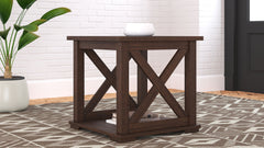 Camiburg - Warm Brown - Square End Table