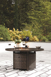 Paradise Trail - Medium Brown - Round Fire Pit Table