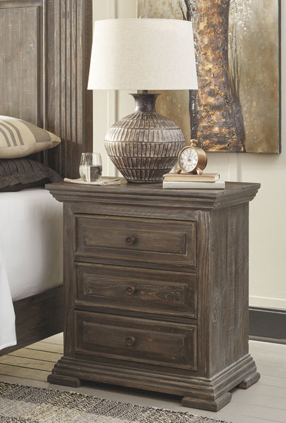 Wyndahl - Brown - Three Drawer Night Stand