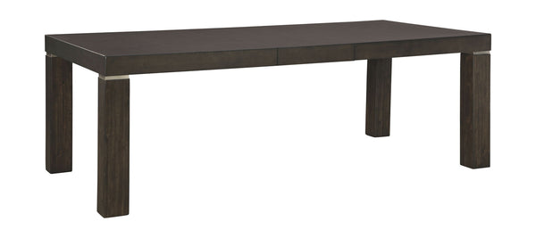 Hyndell - Dark Brown - RECT Dining Room EXT Table