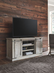 Carynhurst - Whitewash - Large TV Stand