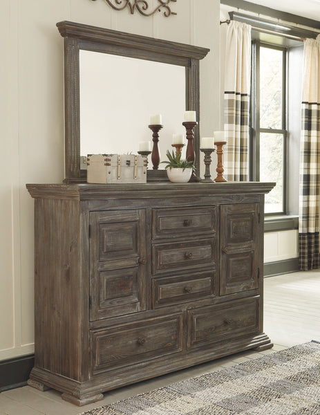 Wyndahl Brown Dresser & Mirror