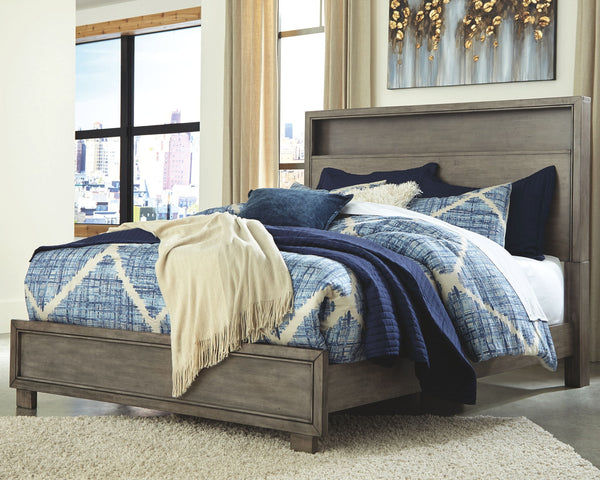 Arnett King Storage Headboard Bed