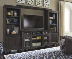 Townser Grayish Brown Left pier/Right Pier/Bridge/Tv Stand