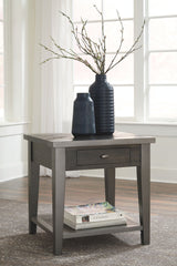 Branbury - Grayish Brown - Rectangular End Table