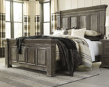 Wyndahl Brown King Panel Bed