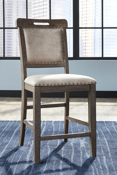Johurst - Beige/Brown - Upholstered Barstool