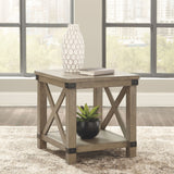 Aldwin - Gray - Rectangular End Table