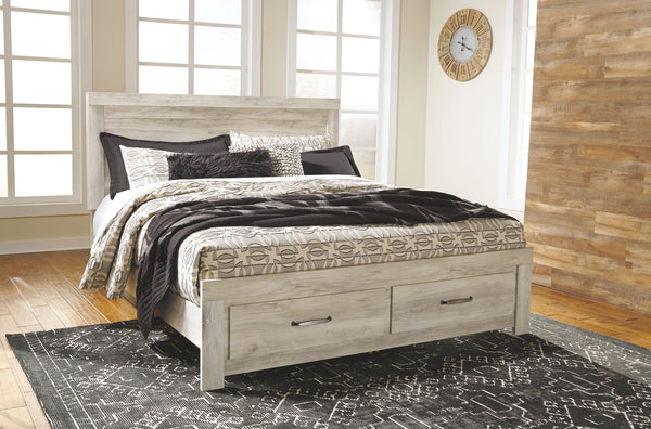 Bellaby Whitewash King Storage Bed
