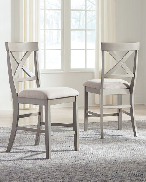 Parellen - Gray - Upholstered Barstool