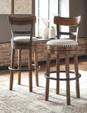 Valebeck - Brown - Tall UPH Swivel Barstool(1/CN)