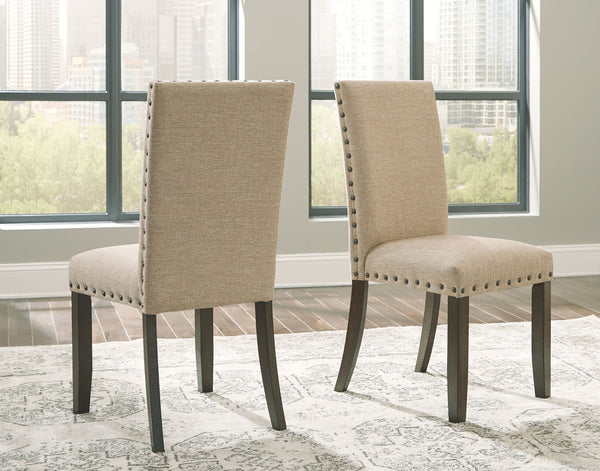Rokane - Light Brown - Dining UPH Side Chair