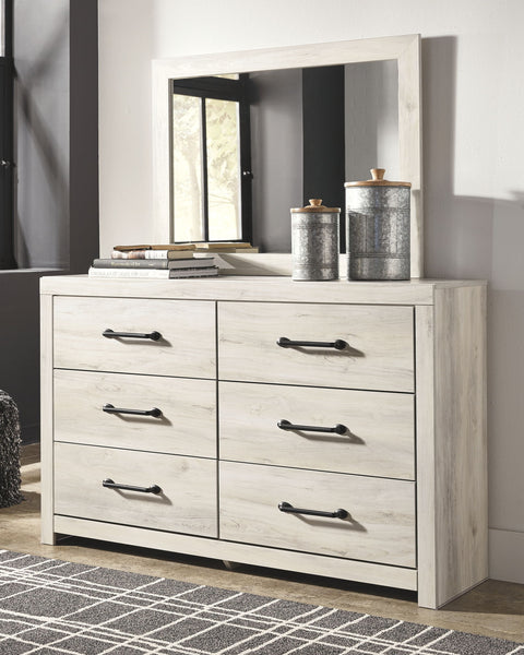Cambeck Whitewash Dresser & Mirror