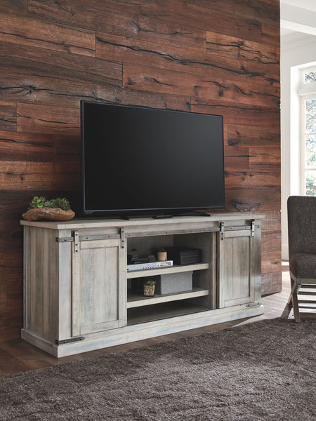 Carynhurst - Whitewash - Extra Large TV Stand