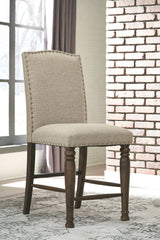 Lettner - Gray/Brown - Upholstered Barstool