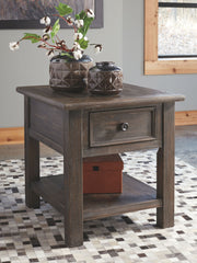 Wyndahl - Rustic Brown - Rectangular End Table