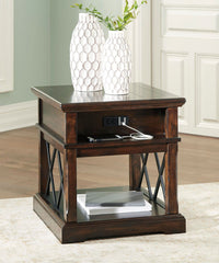 Roddinton - Dark Brown - Rectangular End Table