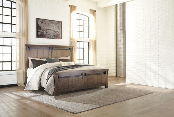 Lakeleigh Brown Cal King Panel Bed