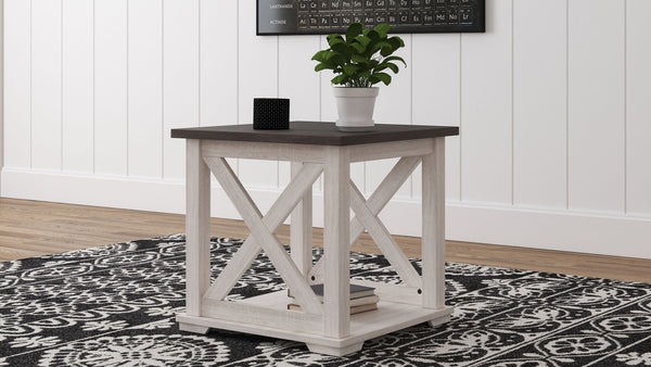 Dorrinson - Two-tone - Square End Table