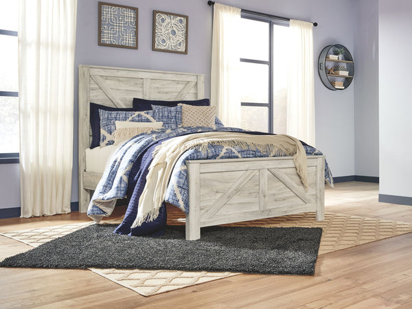Bellaby Whitewash Queen Crossbuck Panel Bed