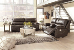 Ricmen Walnut Power Sofa & Power Loveseat