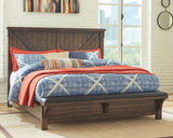 Lakeleigh Brown King Bed w/ Footboard Bench