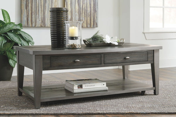Branbury - Grayish Brown - Rectangular Cocktail Table
