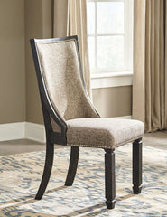 Tyler Creek - Black/Grayish Brown - Dining UPH Side Chair