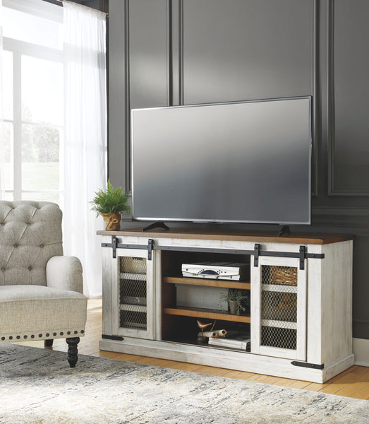 Wystfield - White/Brown - Large TV Stand