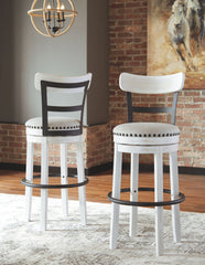 Valebeck - White - Tall UPH Swivel Barstool(1/CN)