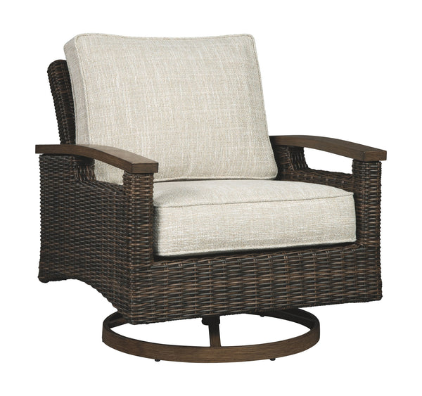 Paradise Trail - Medium Brown - Swivel Lounge Chair