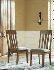 Flaybern - Light Brown - Dining UPH Side Chair