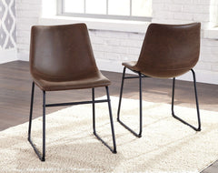 Centiar - Brown/Black - Dining UPH Side Chair