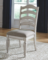 Realyn - Chipped White - Dining UPH Side Chair
