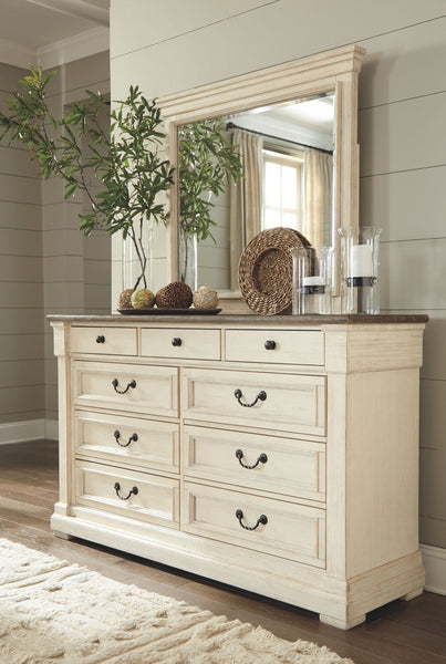 Bolanburg Antique White Dresser& Mirror