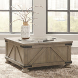 Aldwin - Gray - Cocktail Table with Storage