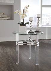 Braddoni - Chrome Finish - Round End Table