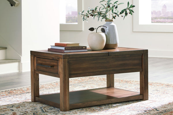 Marleza - Brown - Rect Lift Top Cocktail Table