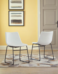 Centiar - White - Dining UPH Side Chair